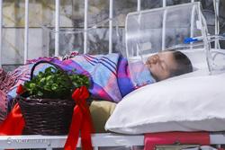 لحظه تحویل سال ۱۳۹۸ در بیمارستان کودکان گرگان