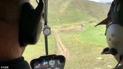 ثبت لحظه سقوط هلیکوپتر توسط مسافران! +فیلم