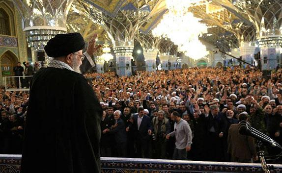 سخنرانی رهبر انقلاب در حرم امام رضا (ع) + فیلم