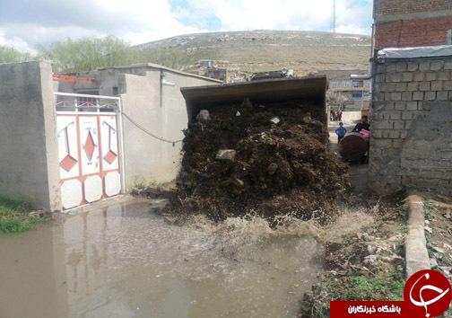 خطر وقوع سیل/روایت تکراری آب گرفتگی معابر در شهرستان مهاباد