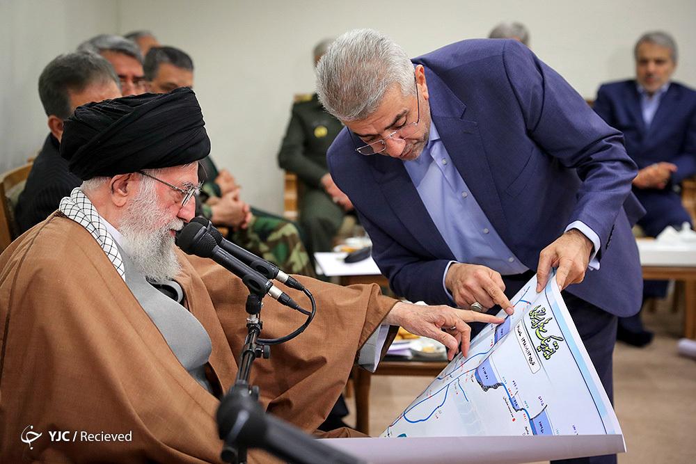 تاکید موکد رهبر انقلاب به توجه جدی خسارات روحی و روانی سیل اخیر/ نقشه ای که وزیر نیرو به رهبری نشان داد چه بود؟