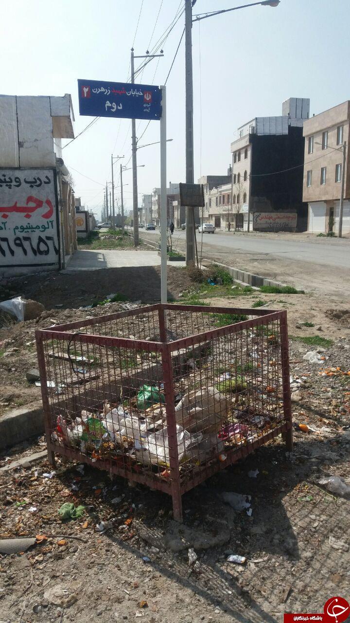 تصاویری از وضعیت نامناسب خیابانها در شهرک بسیجیان