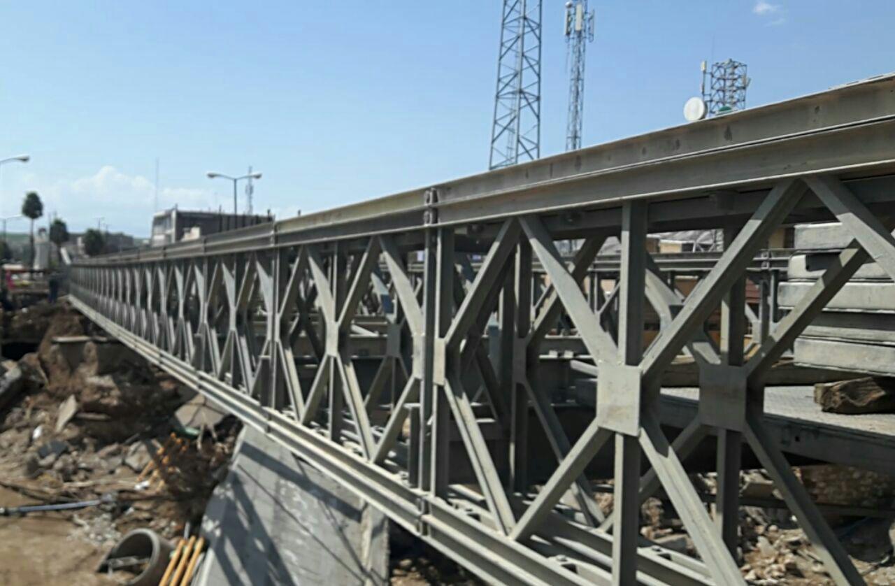 احداث پل هفت تیر پلدختر در ۴۸ ساعت توسط نیروی زمینی ارتش