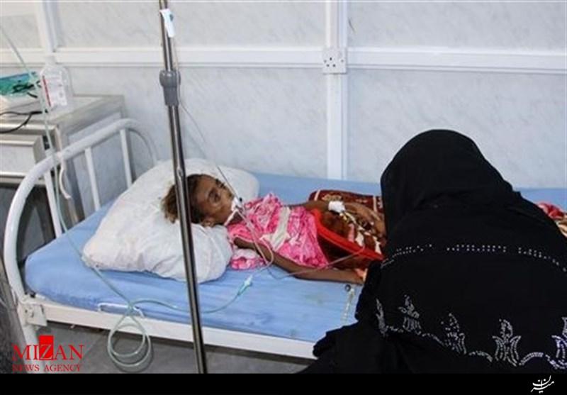 جنایات وحشیانه و ضد بشری عربستان در یمن / کودکان یمنی قربانی وبای سعودی + تصاویر