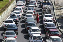 ترافیک سنگین جاده چالوس در دومین روز نوروز