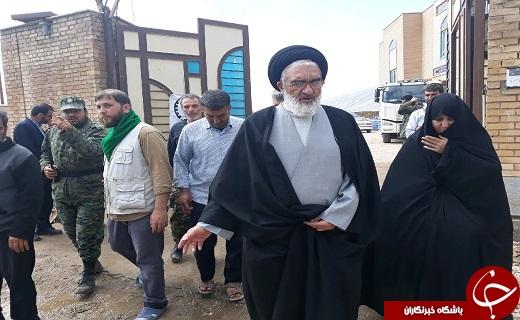 بازدید تولیت آستان بانوی کرامت از مناطق سیل زده پلدختر و گروههای جهادی