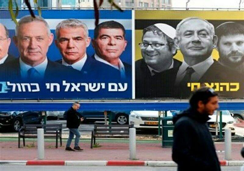 احتمال نخستوزیر ماندن نتانیاهو قوت گرفت   رقابت تنگاتنگ لیکود با ائتلاف آبی و سفید در انتخابات سراسری رژیم صهیونیستی