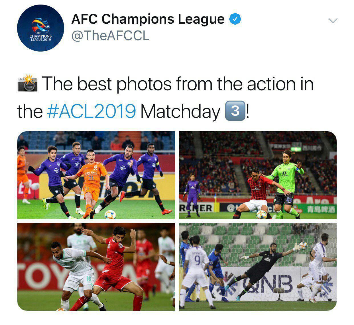 سرخابیها در جمع ۴ تصویر برتر لیگ قهرمانان آسیا