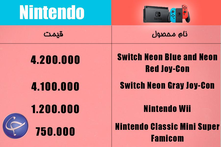 آخرین قیمت انواع کنسول بازی و لوازم جانبی آن در بازار (تاریخ ۲۳ فروردین) +جدول