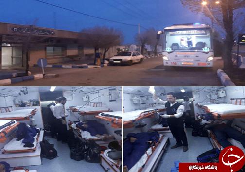 واژگونی اتوبوس در اصفهان یک کشته و ۱۸ مصدوم برجا گذاشت