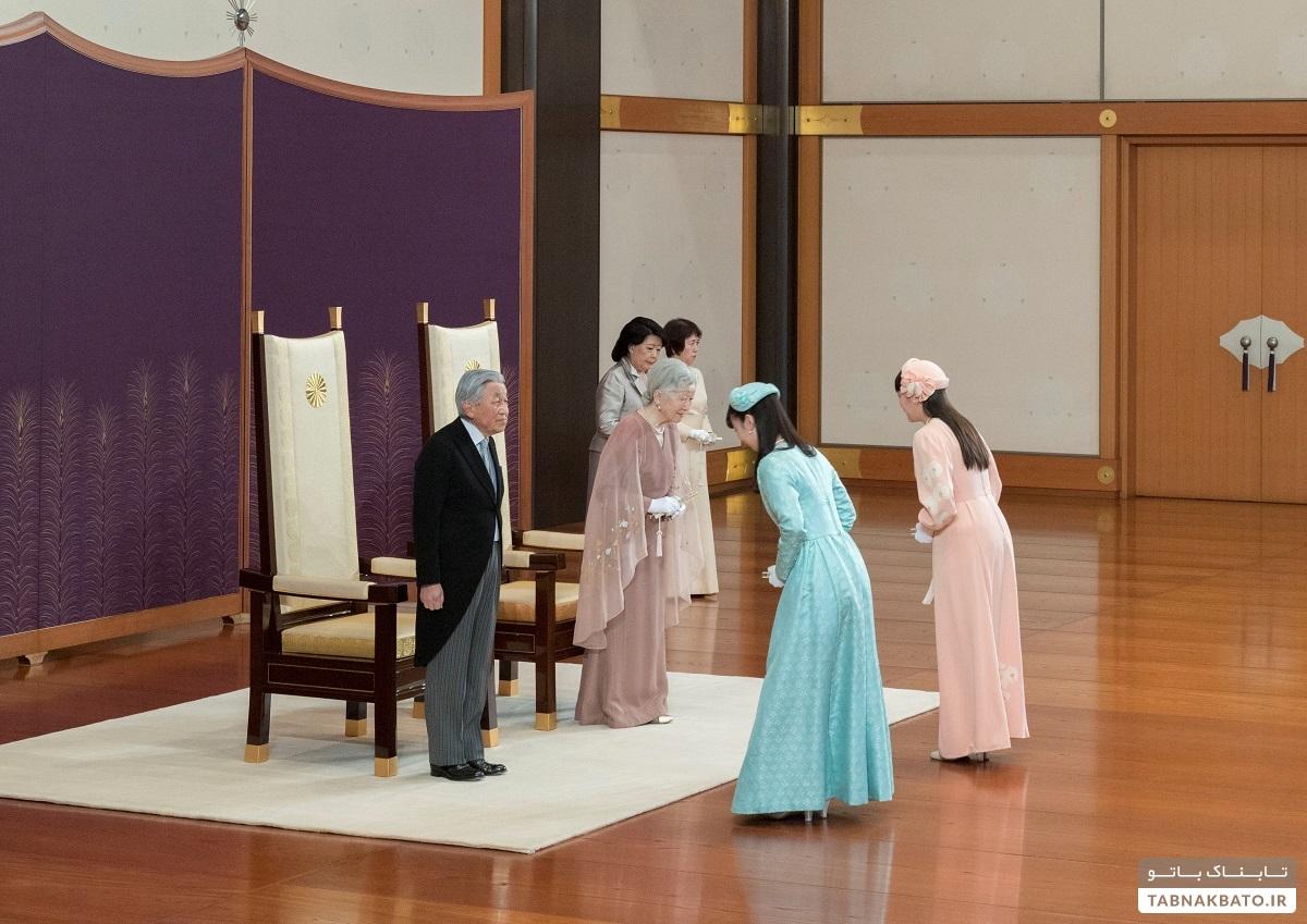 تصاویر دیدنی از مراسم سالگرد ازدواج امپراتور ژاپن و همسرش