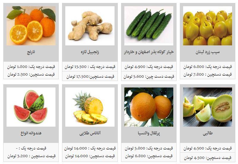 کاهش قیمت میوههای بهاری در تره بار