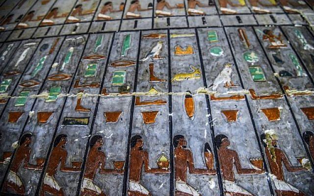 کشف معبد ۴۳۰۰ ساله در مصر با نقاشیهای دیواری رنگ آمیزی شده+تصاویر