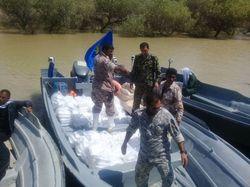 امداد قایق های سپاه در سیروان