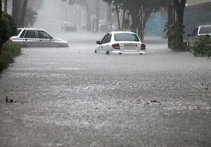 وضعیت خیابانهای کرمان پس از بارندگی + فیلم