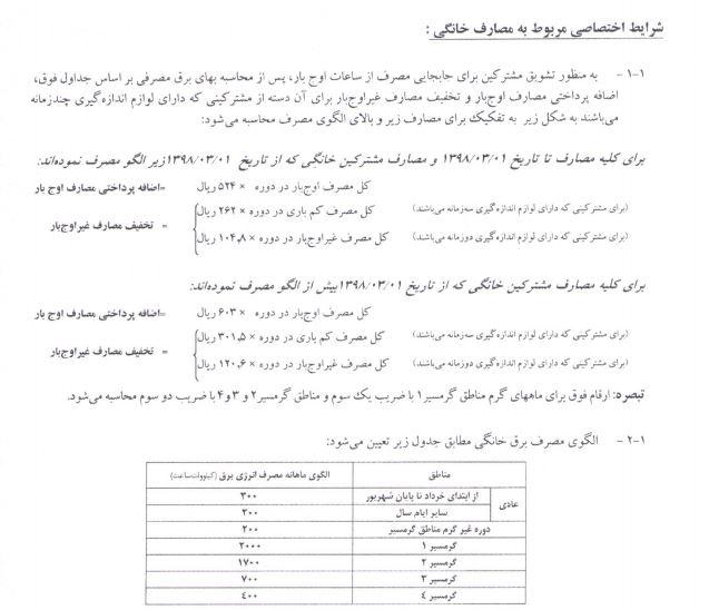 جزییات افزایش قیمت آب و برق مشترکان از ابتدای اردیبهشت اعلام شد + جدول