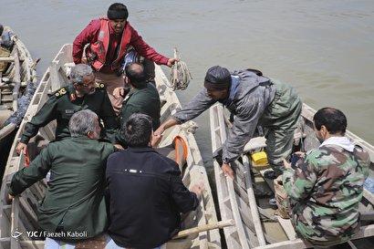 بازدید سردار غیب پرور از مناطق سیل زده گلستان