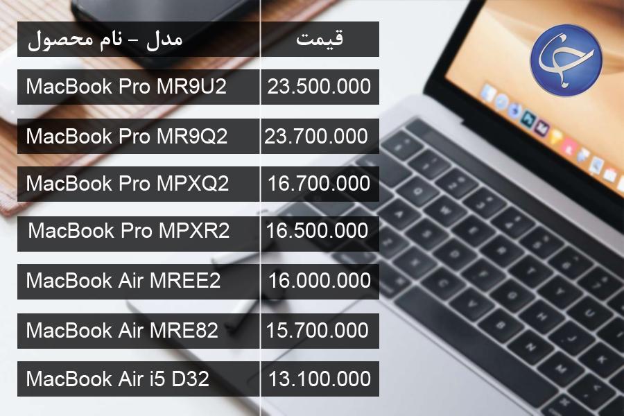 آخرین قیمت انواع لپ تاپ در بازار (تاریخ ۲۶ فروردین) +جدول