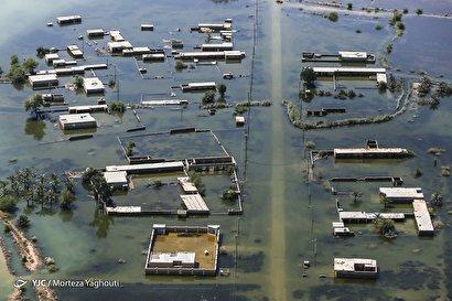 تصاویر هوایی از مناطق سیلزده سوسنگرد