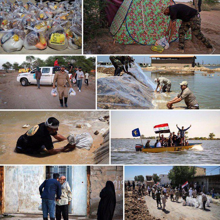 کمکرسانی نُجَباء به سیلزدگان اهواز و حمیدیه + تصاویر