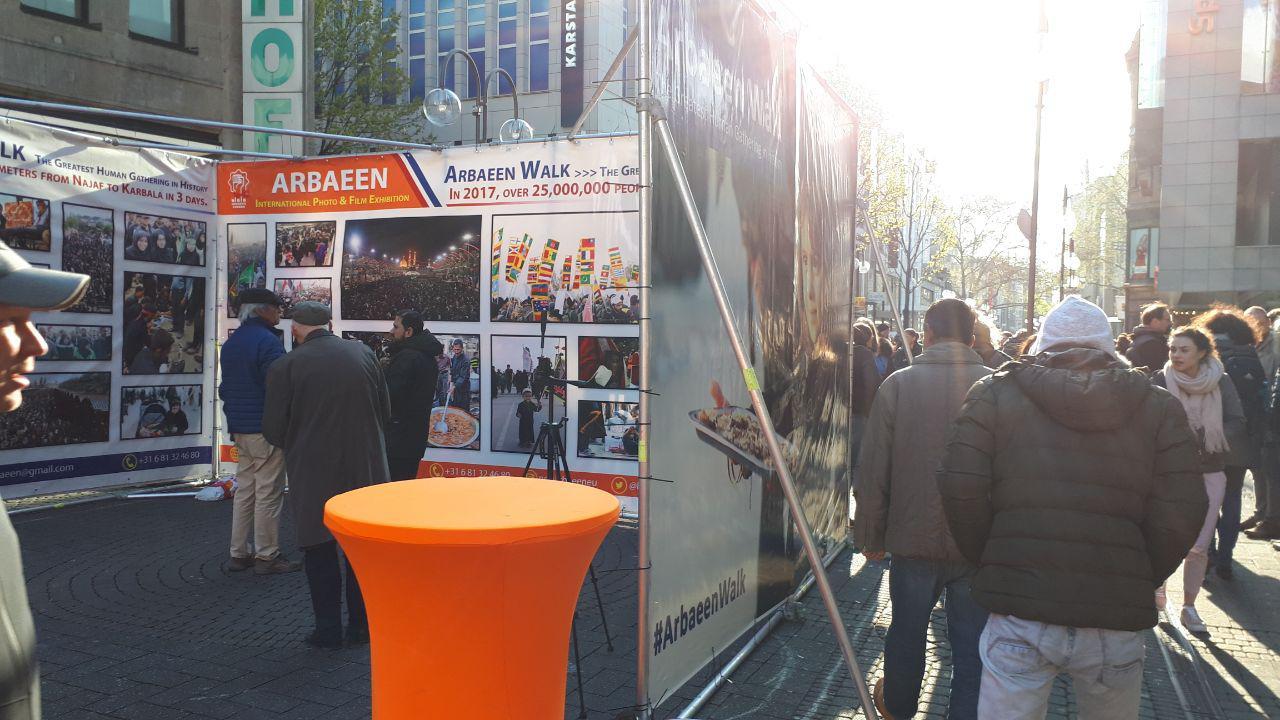 نمایشگاه عکس پیادهروی اربعین اربعین در شهر کلن آلمان +عکس و فیلم