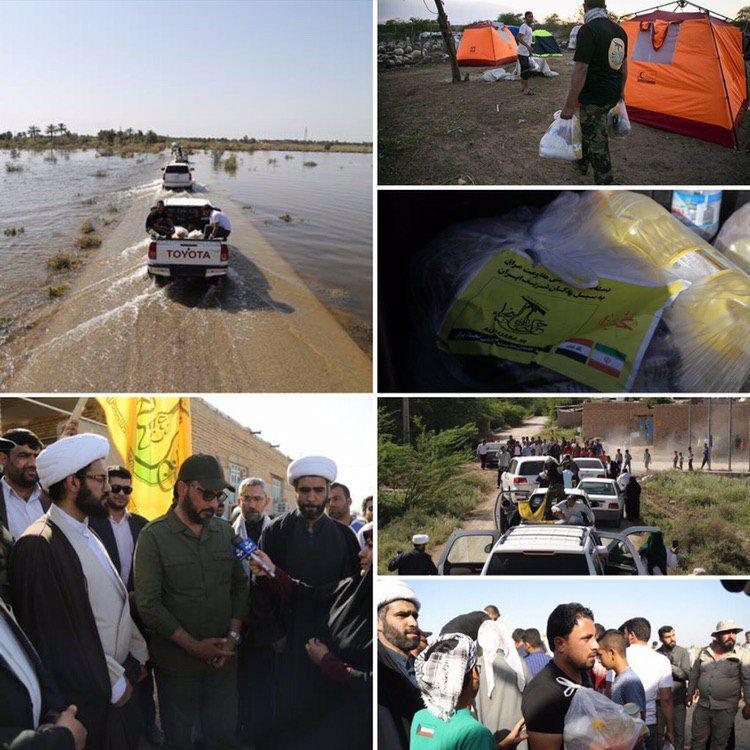 کاروان حمایتی نُجَباء به کارون و کوت عبدالله در خوزستان رسید + تصاویر