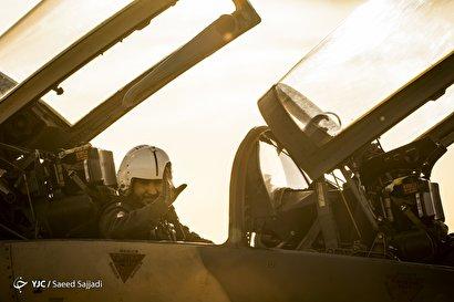 رژه تمرینی جنگندههای نیروی هوایی ارتش