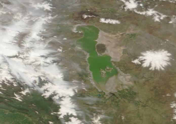 تازهترین تصویر ماهوارهای از دریاچه ارومیه