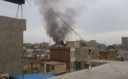 انفجار در مغازه کپسول گاز ال پی جی