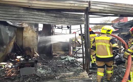 انفجار در مغازه کپسول گاز ال پی جی + تصاویر