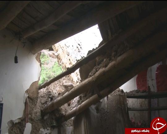 ریزش خانههای خشتی بر اثر بارش باران در باجگیران + تصاویر