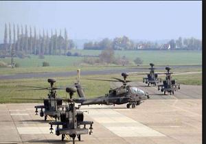 استقرار بالگردهای آپاچی انگلیس در استونی برای 'مقابله با تهدیدهای روسیه'