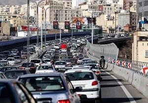 وضعیت ترافیکی بزرگراههای تهران در صبح چهارشنبه