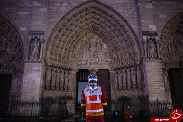 تازه ترین تصاویر از داخل کلیسای نوتردام پس از حادثه آتش سوزی