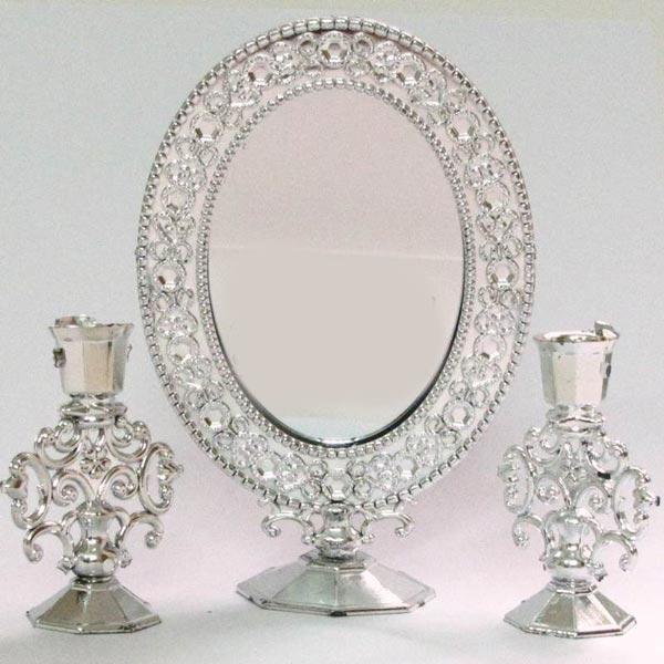راهنمای خرید مدل آینه و شمعدان عروس