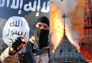 خوشحالی داعش از آتشسوزی کلیسای نوتردام پاریس