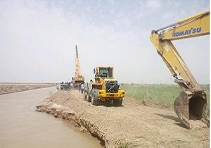 شکستگی سیل بند روستای مشاع