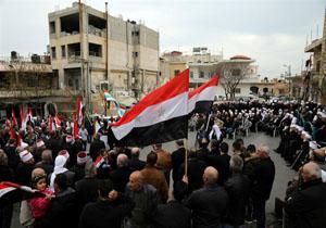 مردم جولان اشغالی در یک راهپیمایی بر تمامیت ارضی سوریه تاکید کردند