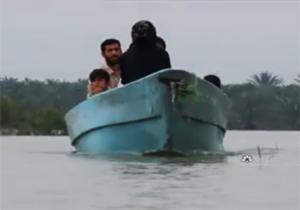 جدیدترین وضعیت آبگرفتگی در شهرهای خوزستان + فیلم