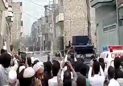 لحظه انفجار مقر تروریستها در پیشاور پاکستان + فیلم