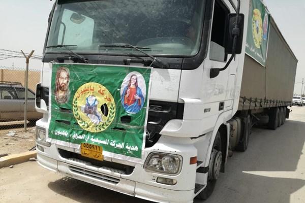 کمکهای جدید الحشد الشعبی و مسیحیان عراق وارد ایران شد + تصاویر