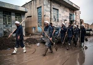 کمکرسانی نیروهای جهادی در مناطق سیلزده سوسنگرد + فیلم