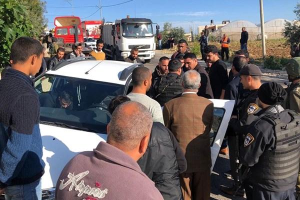 یک شهرکنشین صهیونیست معلم فلسطینی را با کامیون زیر گرفت + تصاویر