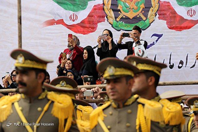 رژه روز ارتش در استانها -۱