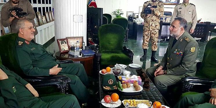 سردار پاکپور با فرمانده نیروی زمینی ارتش دیدار کرد