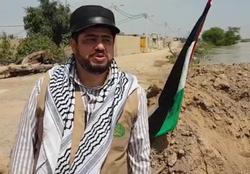 امدادرسانی مرد خیرخواه فلسطینی به سیلزدگان خوزستانی + فیلم