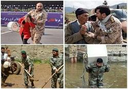وقتی ارتش فدای ملت میشود/ روایتی متفاوت از جانفشانی دلیرمردان ارتشی در بحرانهای اخیر کشور + فیلم