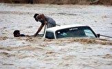 باشگاه خبرنگاران - غرق شدن ۲ خودرو در سیلاب محور اهواز-آبادان/سرنشینان نجات یافتند
