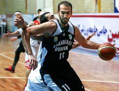 باشگاه خبرنگاران -سهراب نژاد بازیکن برتر دیدار تیمهای بسکتبال شیمیدر و شهرداری گرگان