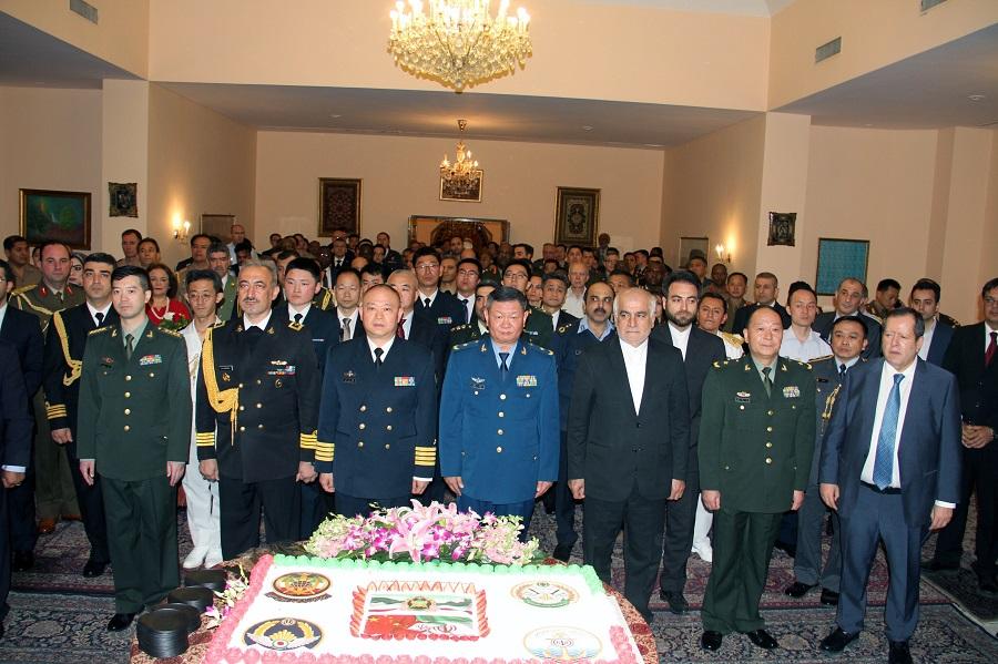 آیین بزرگداشت روز ارتش جمهوری اسلامی ایران در چین برگزار شد